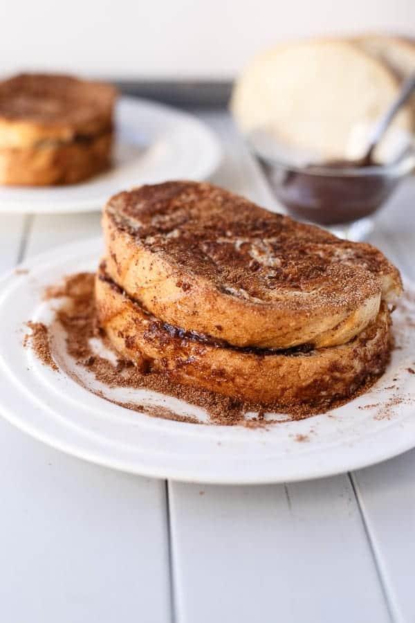 Nutella Stuffed Churro French Toast - Cafe Delites