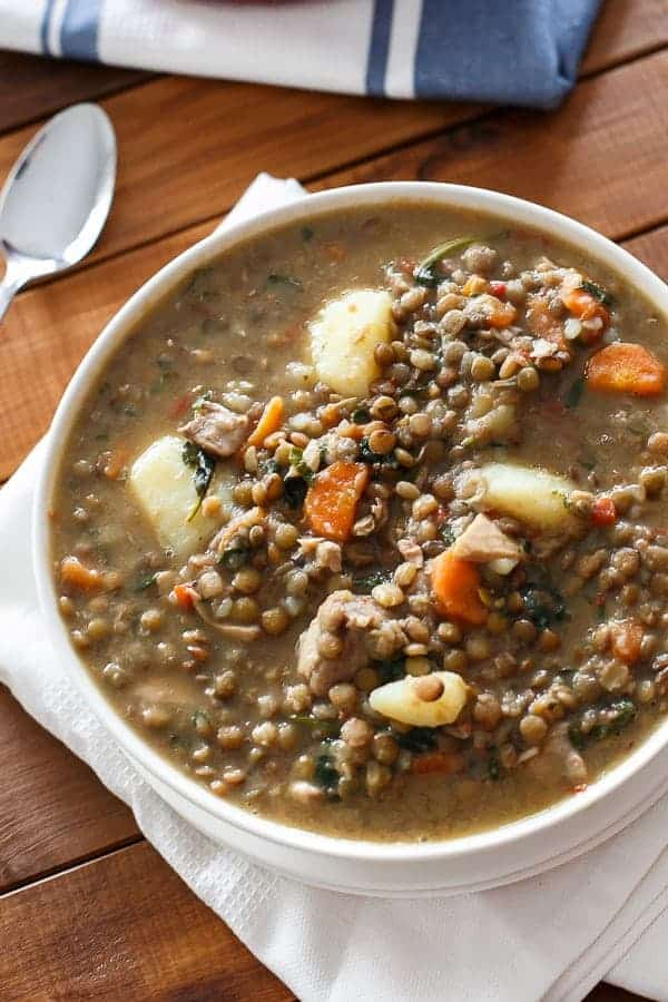 Warm Chicken Lentil Stew - Cafe Delites-3
