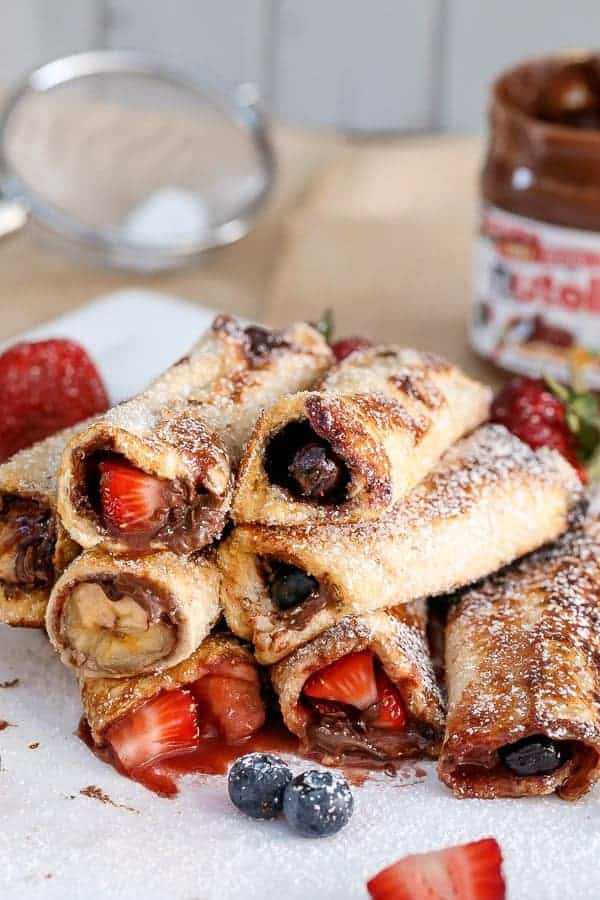 Nutella Fruit French Toast Cannoli | https://cafedelites.com