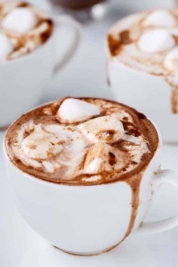Peanut Butter Nutella Hot Chocolate - Cafe Delites http---cafedelites-100