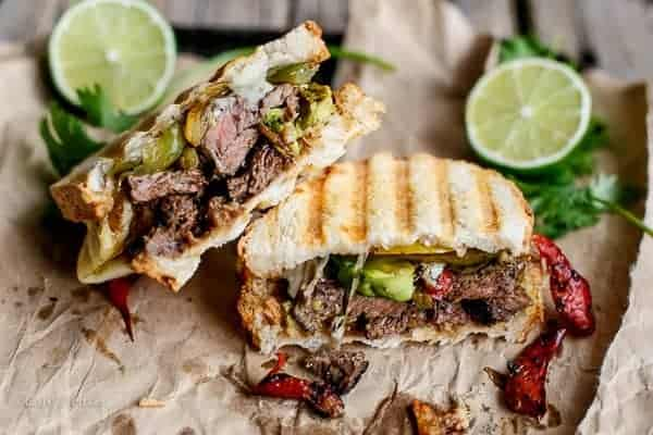 Steak Fajita Grilled Cheese | http://cafedelites.com