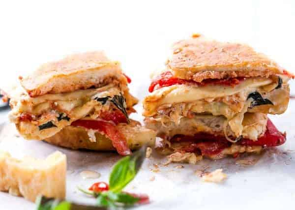 Focaccia Three-Cheese Italian Grilled Cheese | http://cafedelites.com