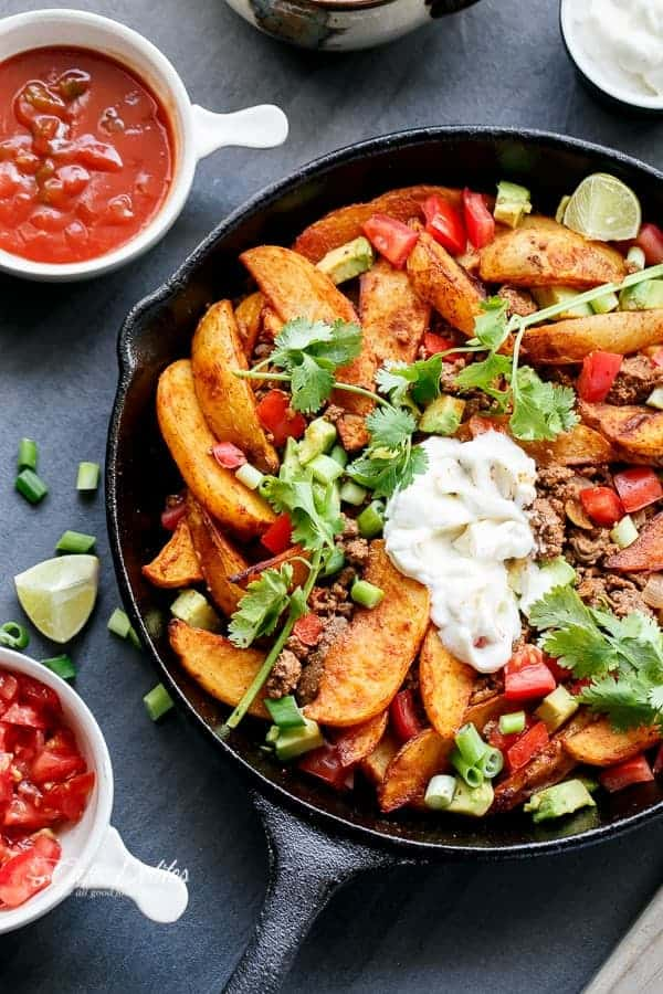 Smokey Mexican Beef Wedges | http://cafedelites.com