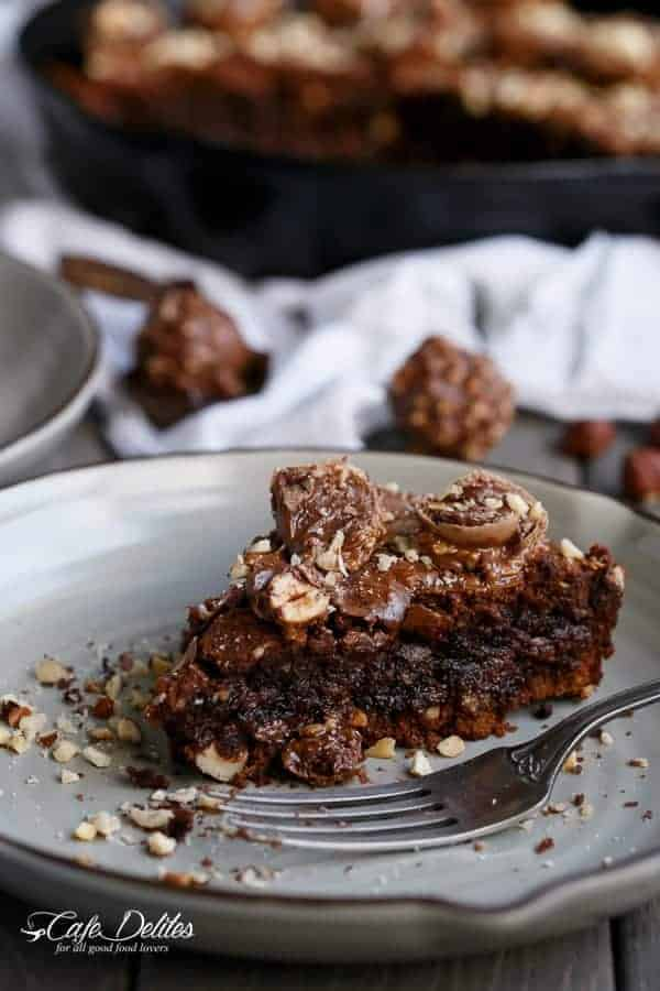 Ferrero Rocher Deep Dish Skillet Brownie Cookie