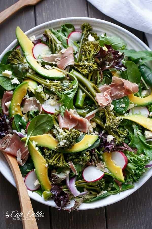 Broccolini, Prosciutto, Feta And Avocado Salad