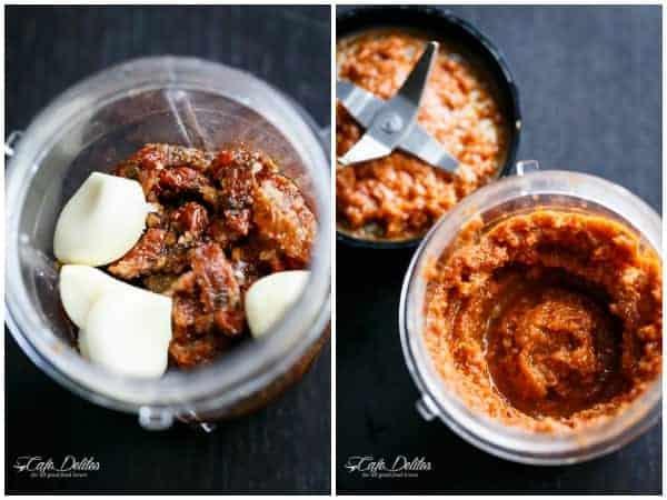 Sundried Tomato and Garlic Roast Lamb | https://cafedelites.com