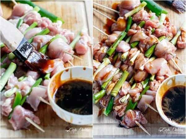 Easy Chicken Yakitori | https://cafedelites.com