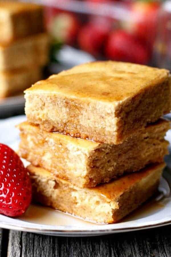 Pancake-Maple-Blondies-Cafe-Delites | https://cafedelites.com