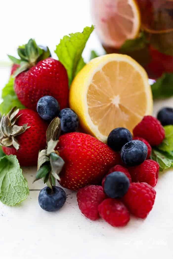 Berry Limoncello Moscato Sangria | http://cafedelites.com