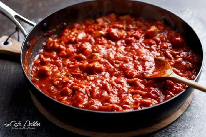 Eggs In Tomato Sauce (Shakshuka)   https://cafedelites.com