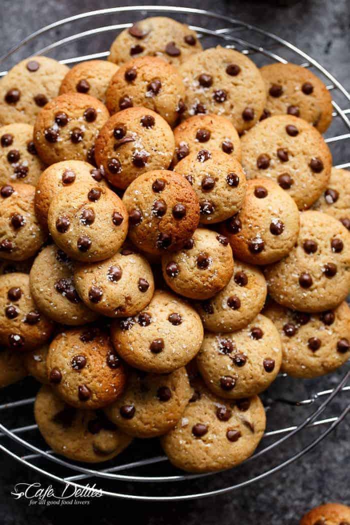 Mini Chocolate Chip Greek Yogurt Cookies   http://cafedelites.com