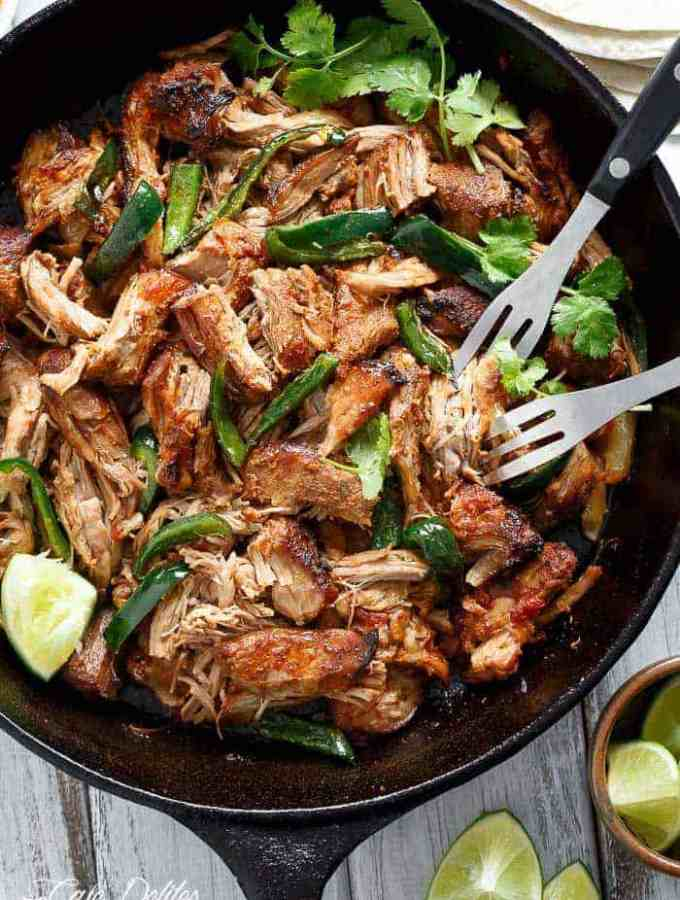 Crispy Slow Cooker Carnitas (Mexican Pulled Pork)