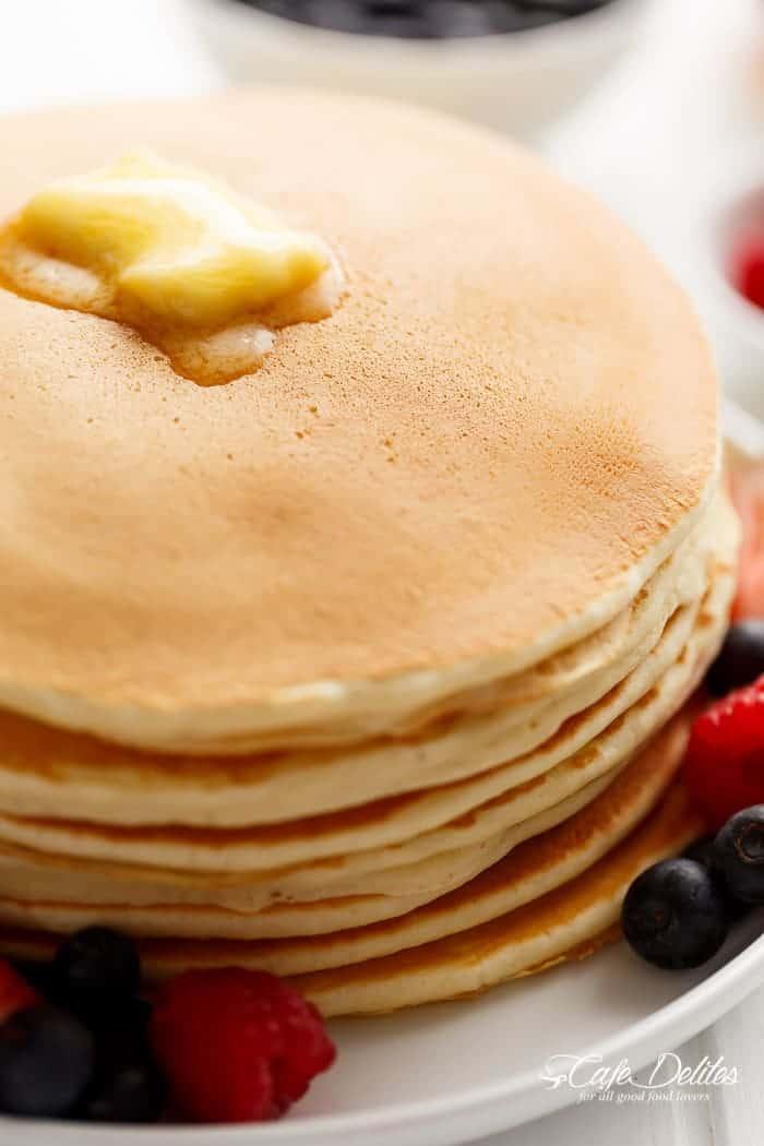 3-Ingredient Pancakes | http://cafedelites.com