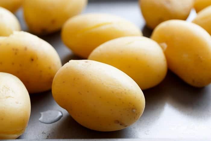 Garlic Butter + Parmesan Smashed Potatoes-1