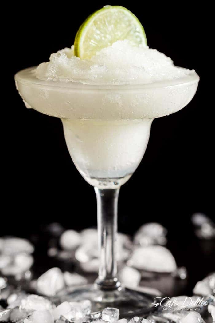 Frozen Margarita Slushy | http://cafedelites.com