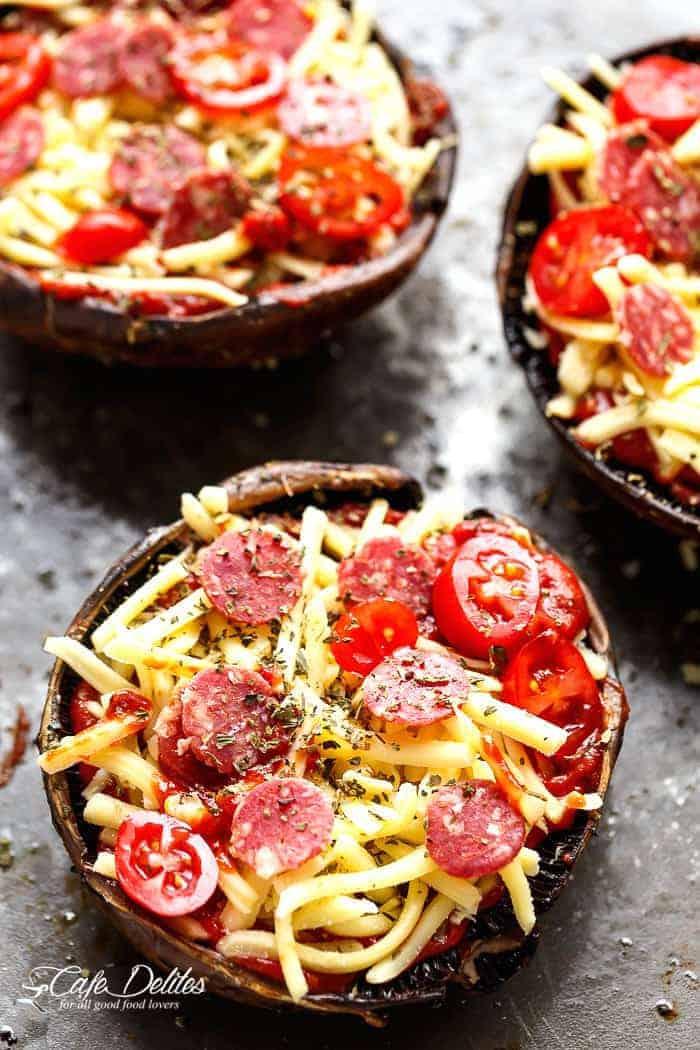 Easy Portobello Pizzas   https://cafedelites.com