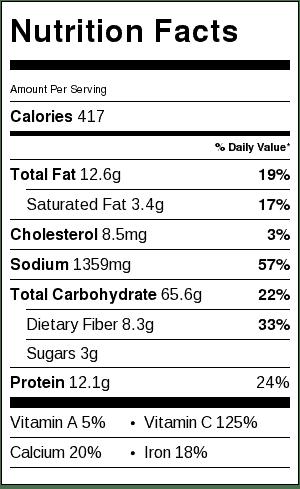 crispy-garlic-baked-potato-wedges-nutrition-label