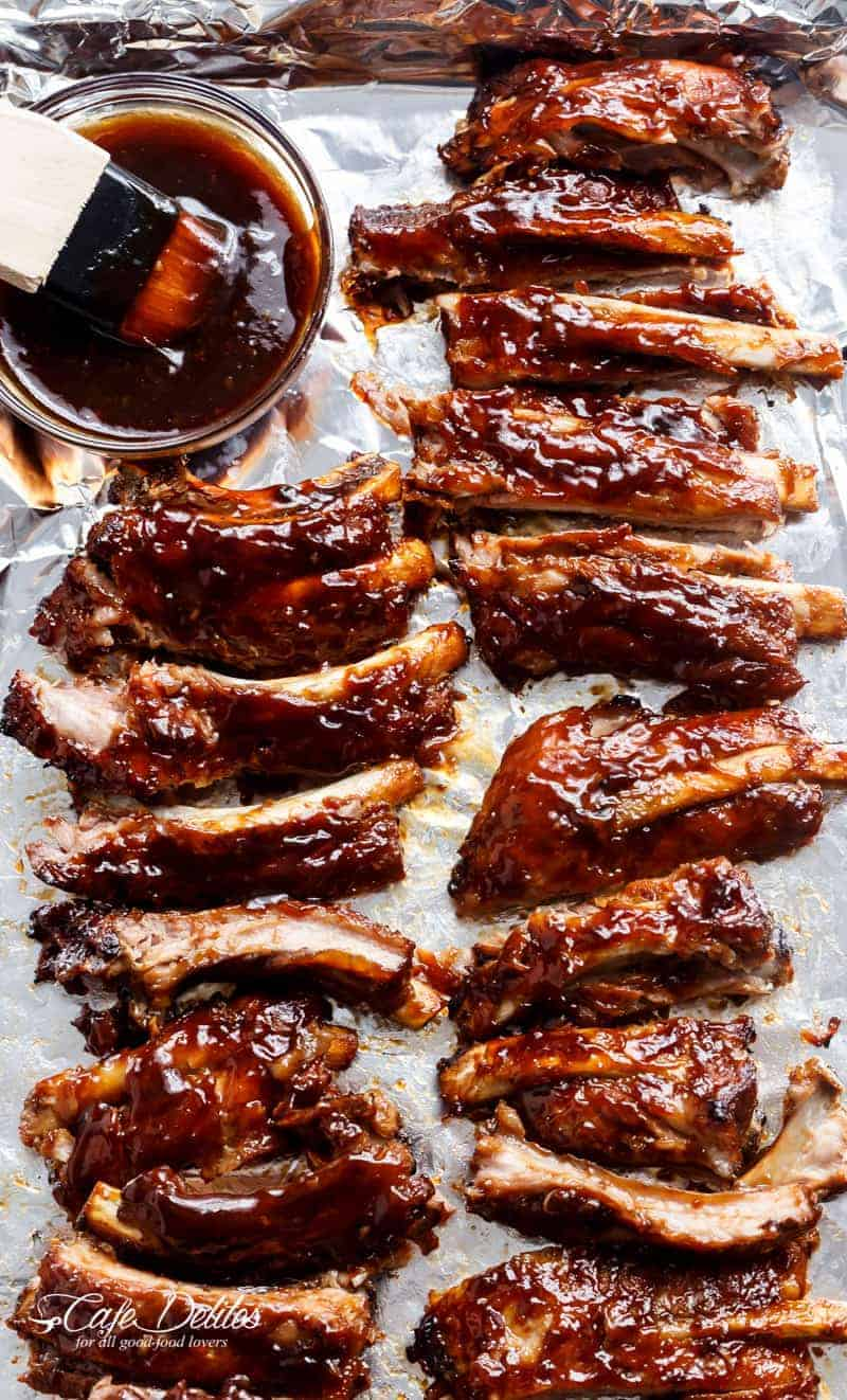 Fall apart Slow Cooker Barbecue Ribs   https://cafedelites.com
