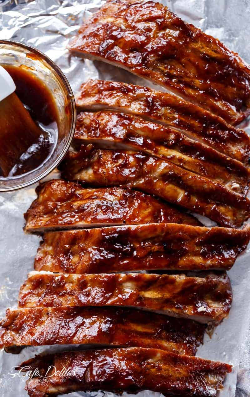 Slow Cooker Barbecue Ribs | https://cafedelites.com