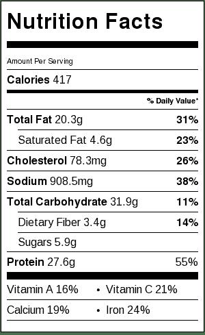 chicken-shawarma-salad-nutritional-label
