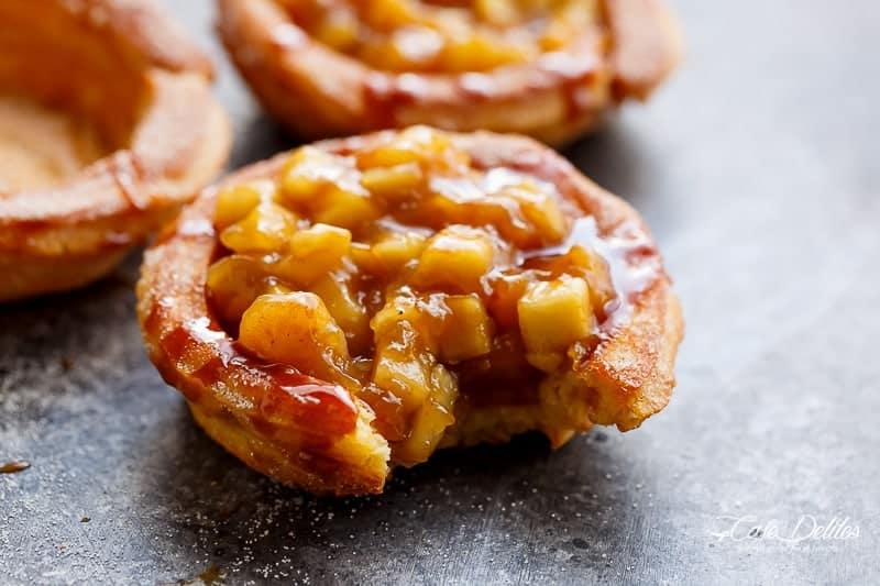 Churro Apple Pie Bowls + Caramel Sauce