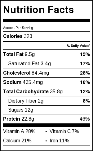 creamy-chicken-noodle-soup-nutritional-label
