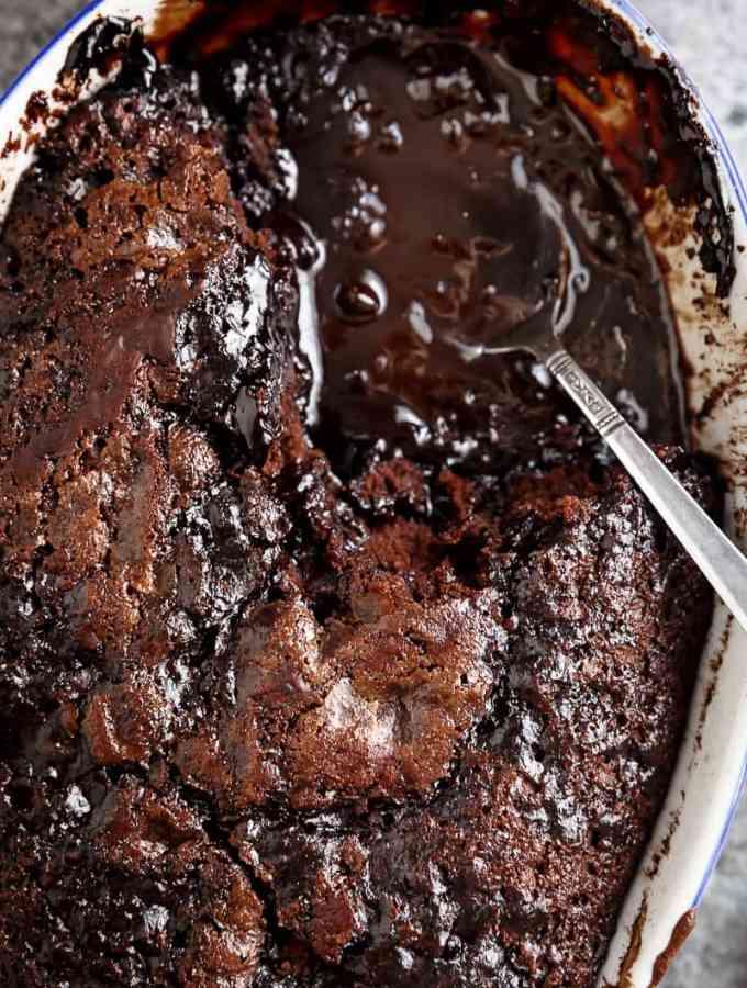 Hot Fudge Chocolate Pudding Cake