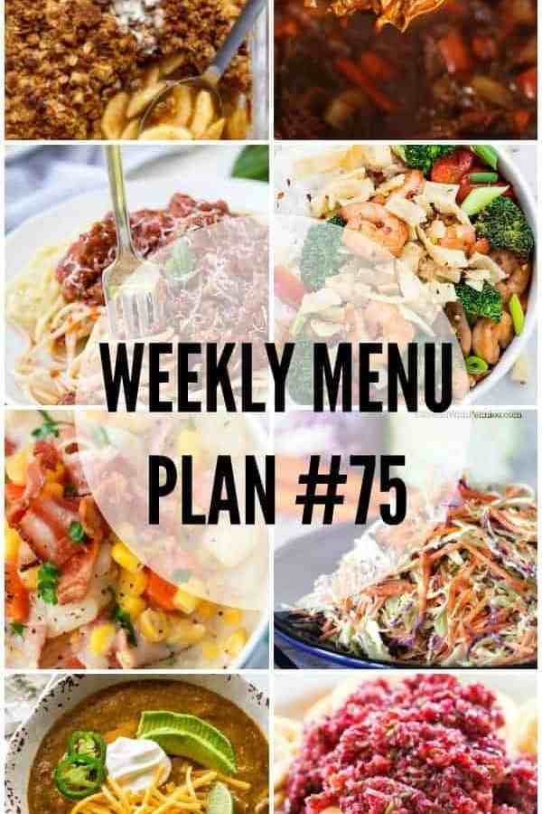 Weekly Menu Plan 75