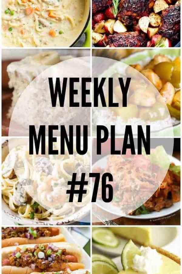 Weekly Menu Plan 76