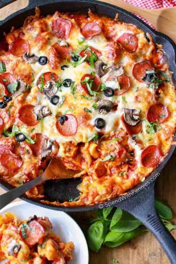 one-pan-pizza-tortellini-bake