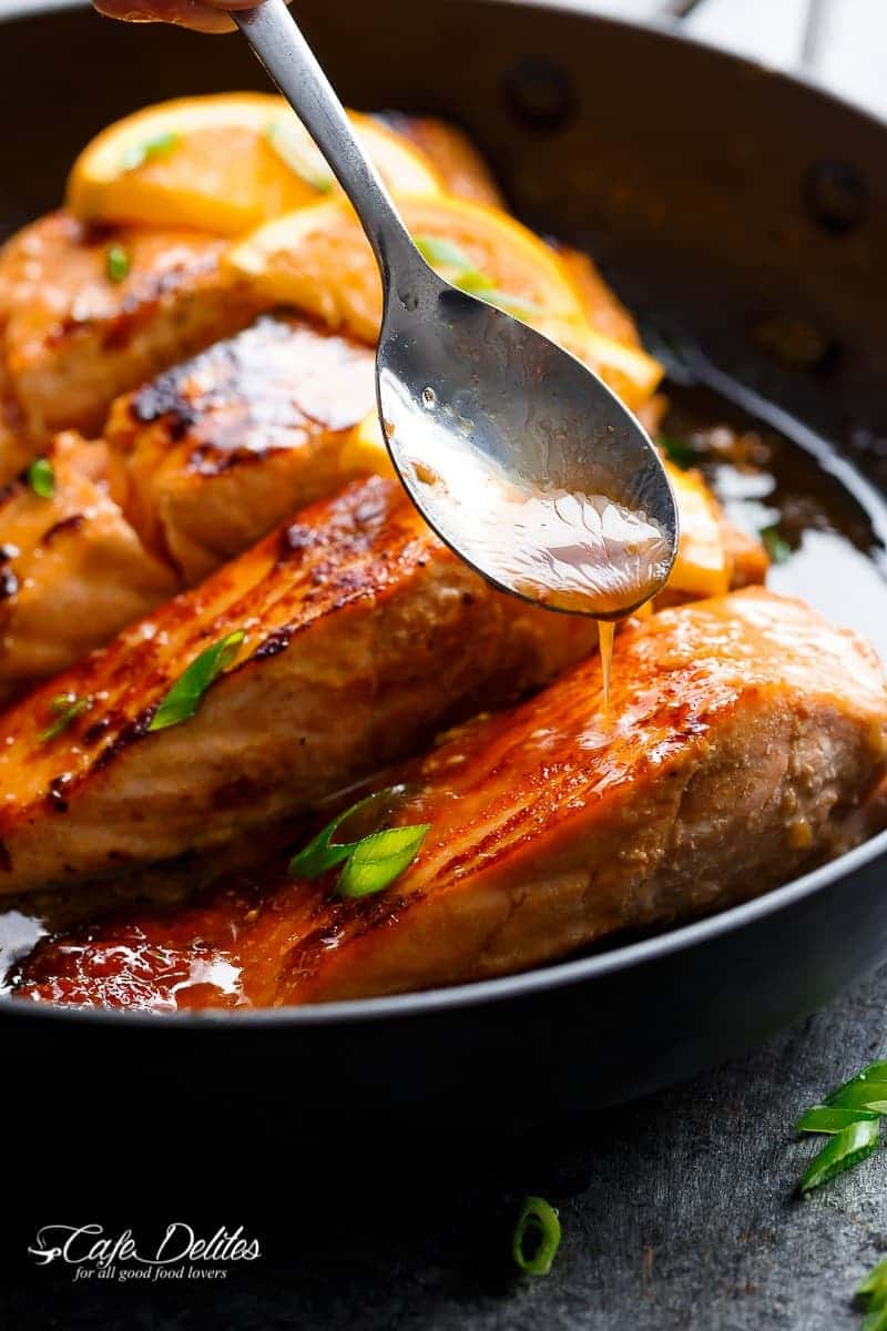 Crispy Honey Orange Glazed Salmon Cafe Delites