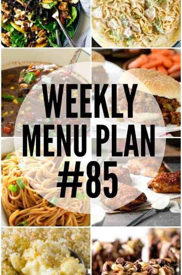 Weekly Menu Plan #85