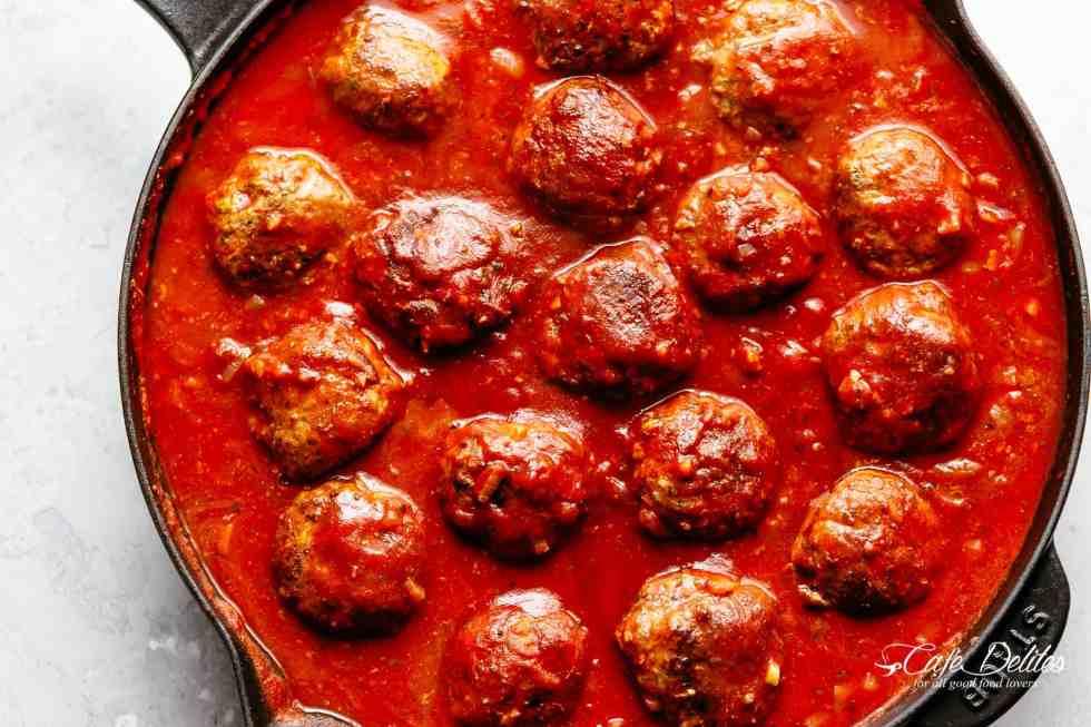 Meatballs in sauce for spaghetti!