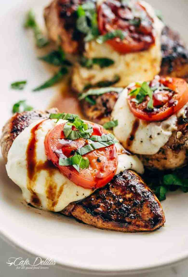Grilled Chicken Caprese With Buffalo Mozzarella