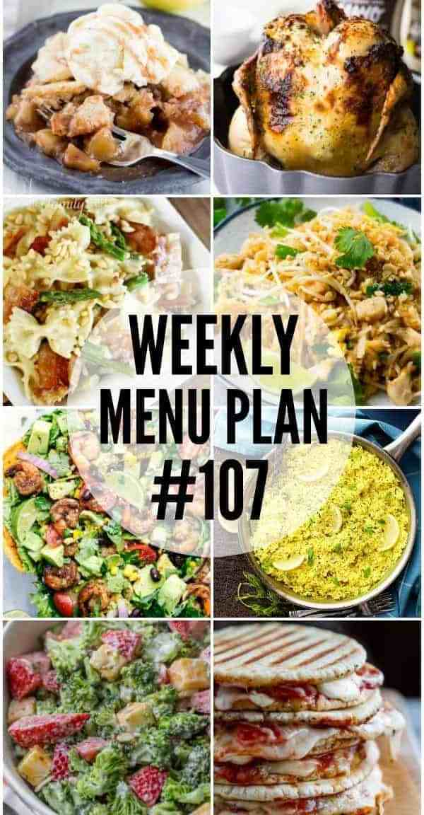 Weekly Menu Plan #107