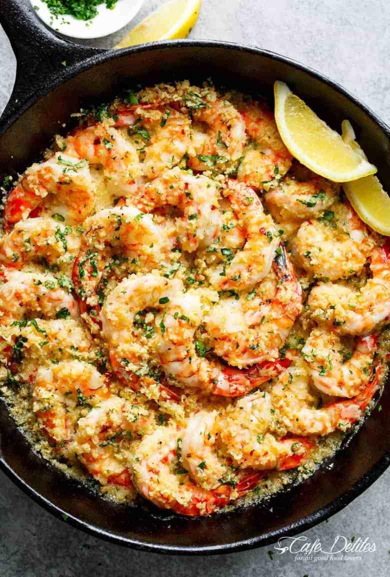 Crispy Baked Shrimp Scampi