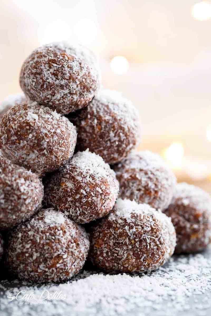 Easy Chocolate Coconut Balls (Truffles)   cafedelites.com