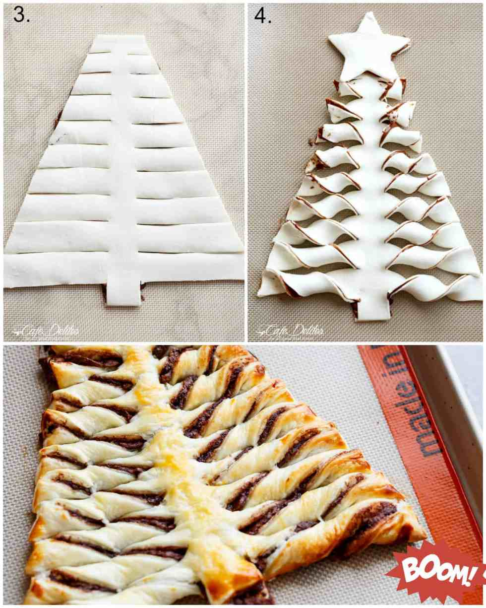 How To Make a Nutella Christmas Tree with Puff Pastry   cafedelites.com