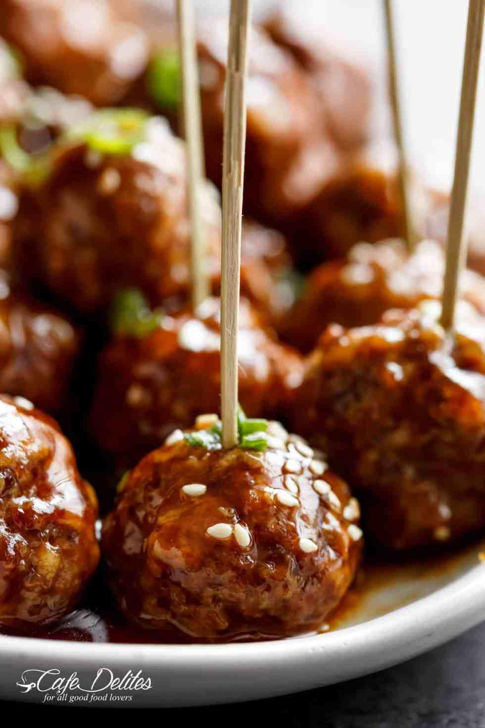 The Best Teriyaki Beef Meatballs Recipe - Cafe Delites