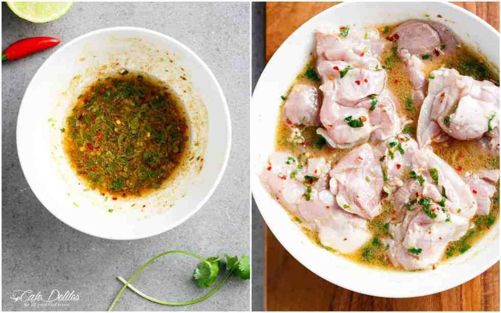 Grilled Chili Lime Chicken Fajita Salad MARINADE DRESSING | cafedelites.com