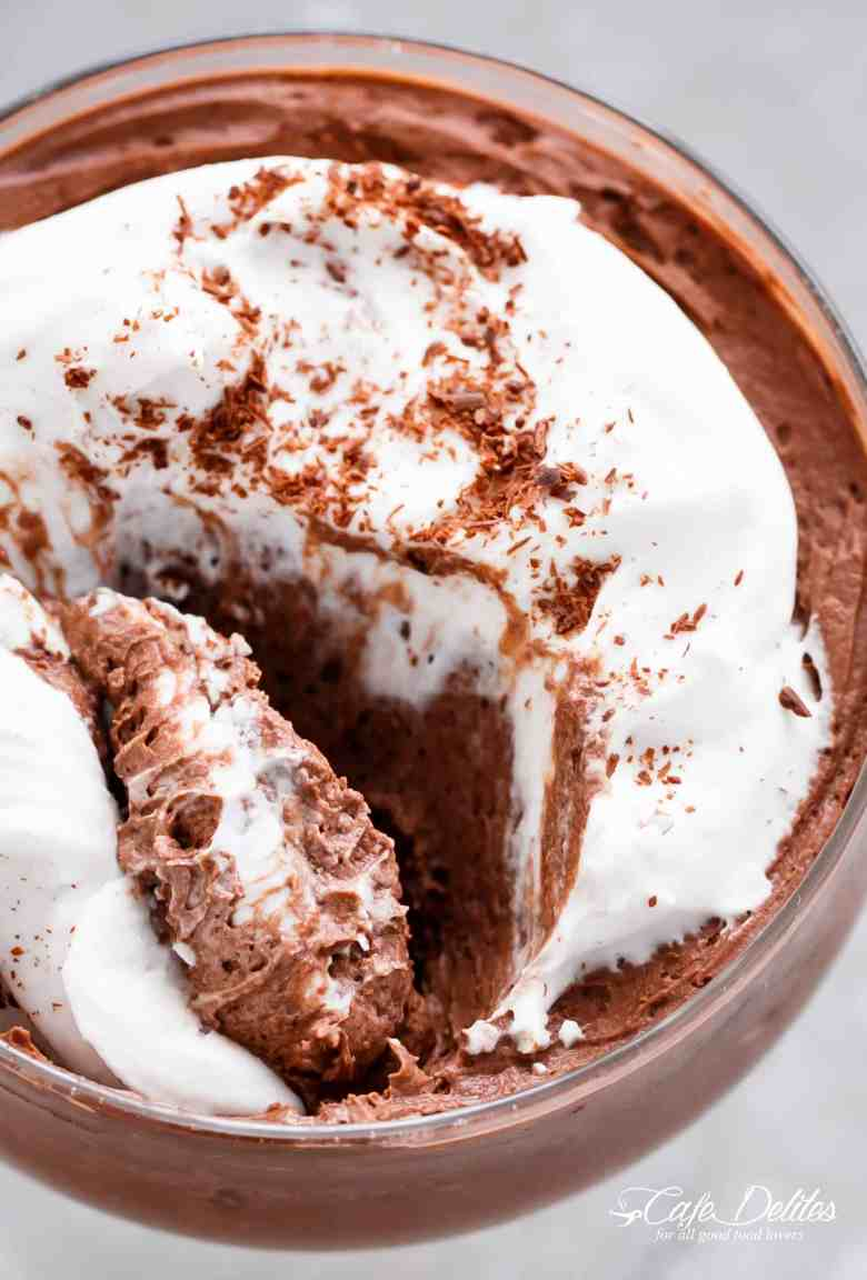 3-Ingredient Double Chocolate Mousse (Low Carb) + VIDEO