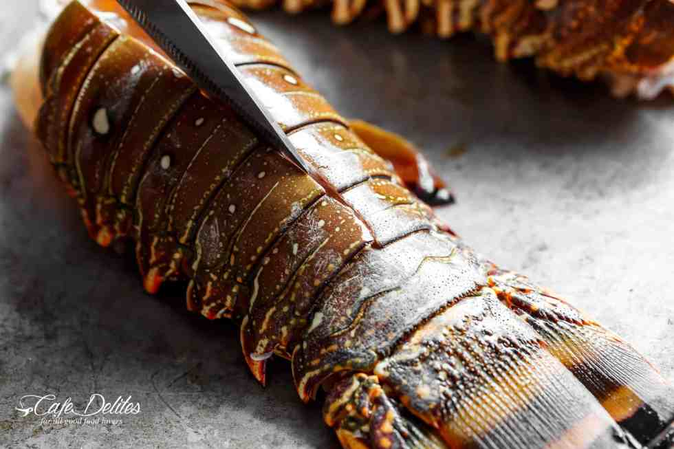 How to cut lobster tails | cafedelites.com