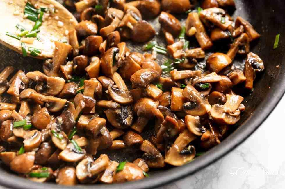 Garlic Butter Mushrooms   cafedelites.com