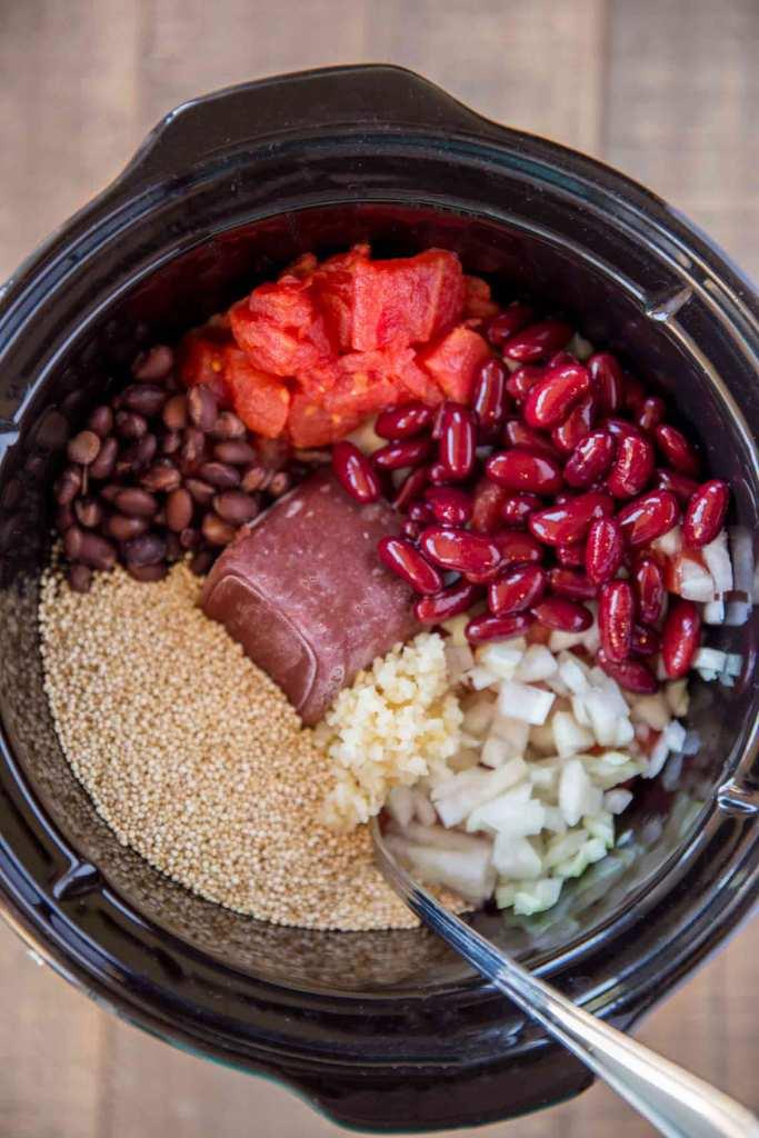 Slow Cooker Vegetarian Quinoa Chili Ingredients