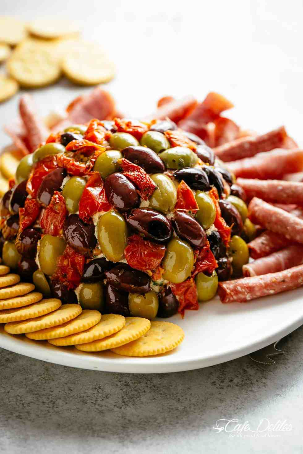 Cheese Ball Antipasto | cafedelites.com