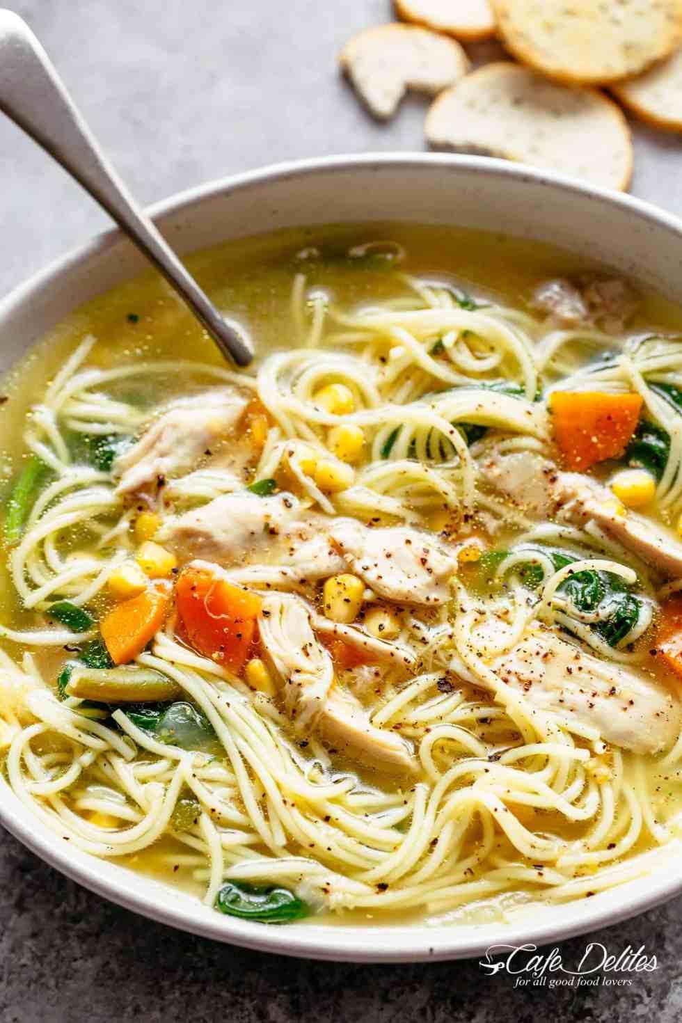 chicken noodle soup - cafe delites