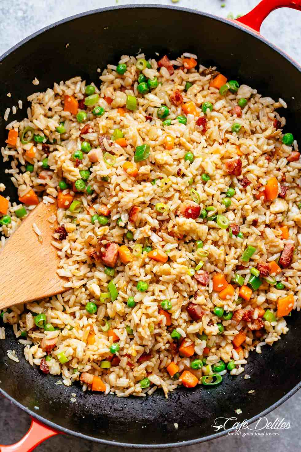 Easy fried rice cafe delites fried rice with crispy bacon and fluffy eggs is better than take out and so easy ccuart Gallery