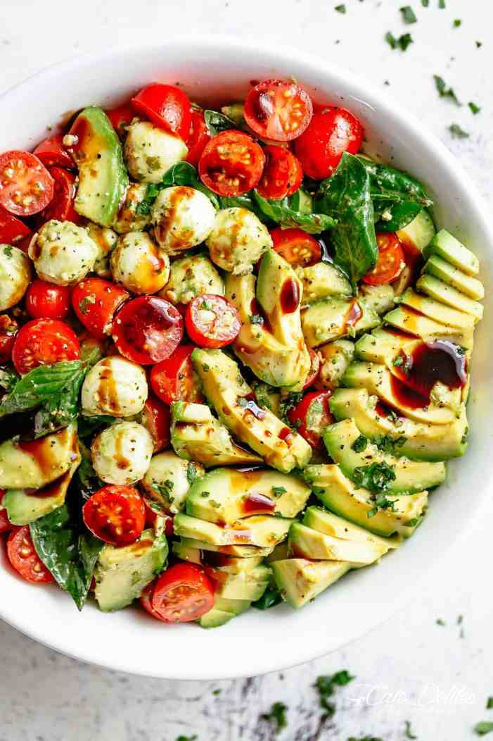Image result for caprese salad avocado