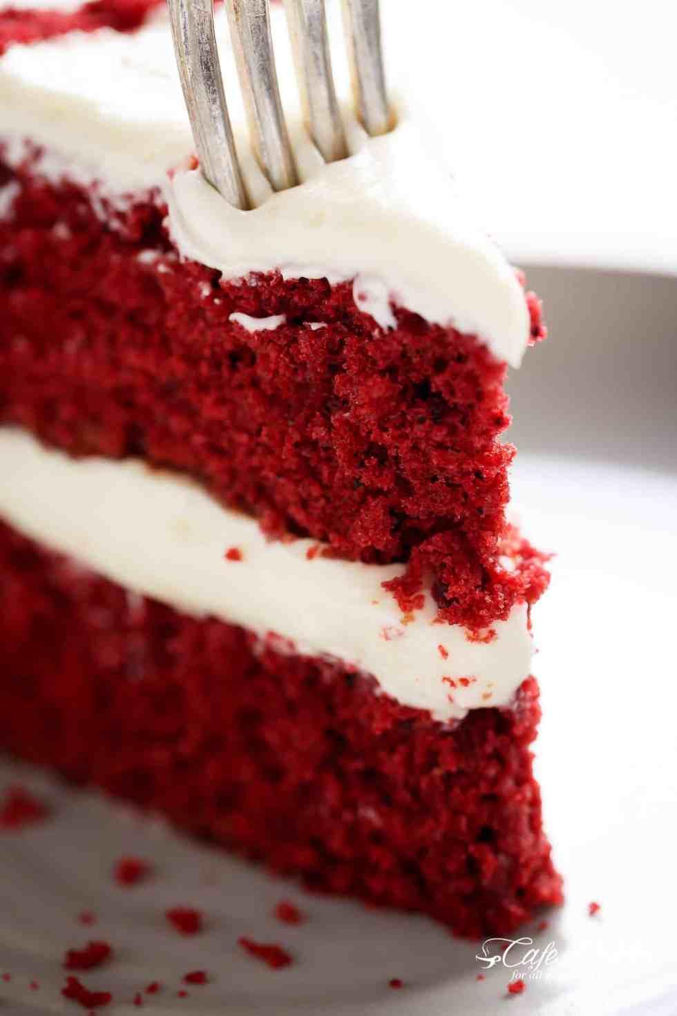 How to make red velvet cake | cafedelites.com