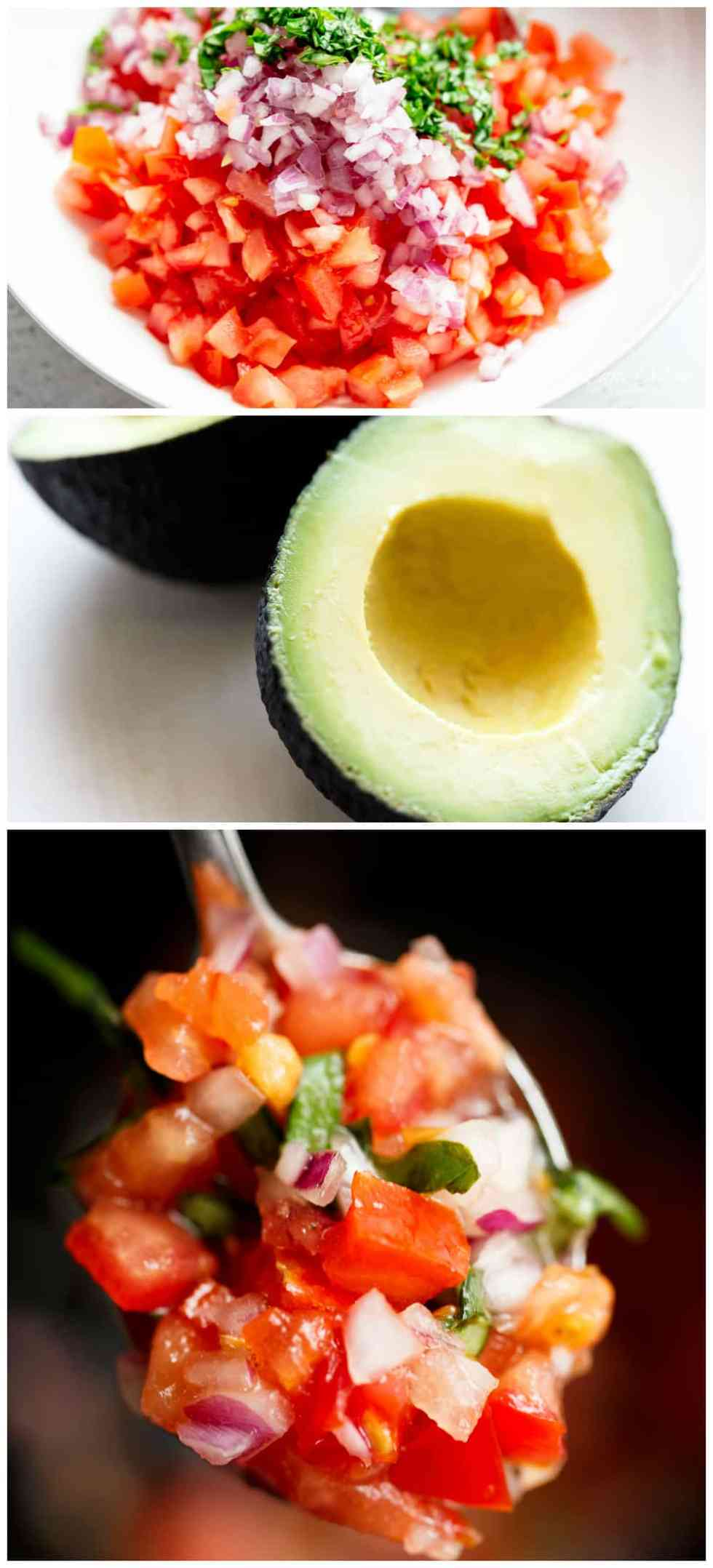 Bruschetta Stuffed Avocados with parmesan and a balsamic reduction! | cafedelites.com